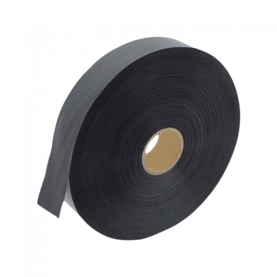25 mm x 200 m Double Sided Black British Satin