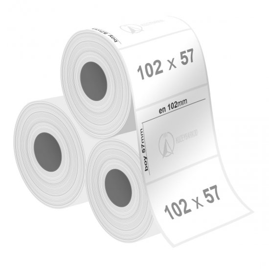 102 x 57 mm Silvermat Etiket - Sticker