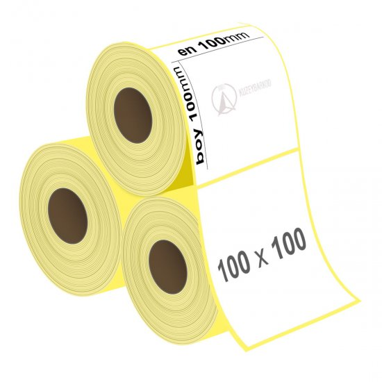 100 x 100 mm Lamine Termal Etiket - Sticker