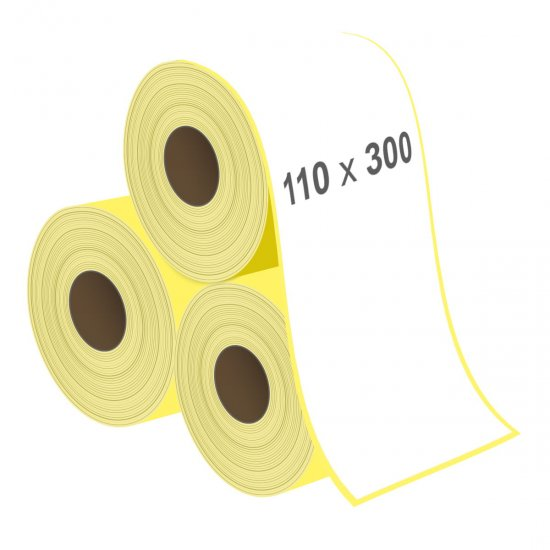 110 x 300 mm Lamine Termal Etiket - Sticker