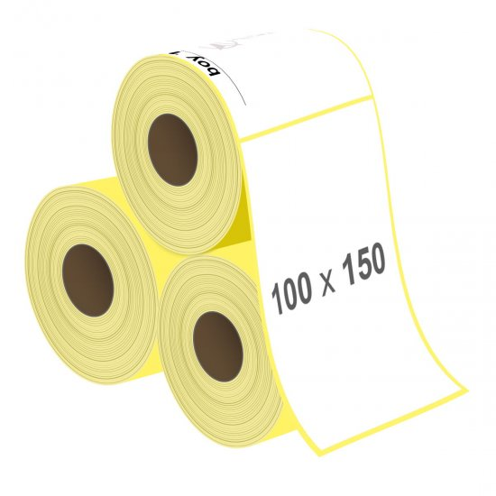 100 x 150 mm Lamine Termal Etiket - Sticker