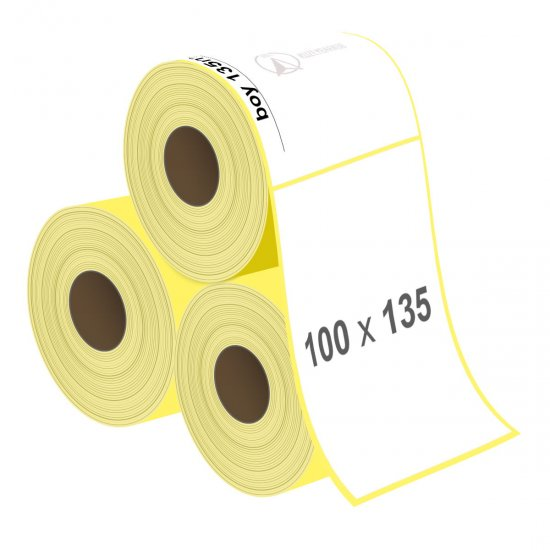 100 x 135 mm Lamine Termal Etiket - Sticker